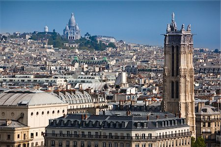 Overview of Montmartre, Paris, France Stock Photo - Rights-Managed, Code: 700-03068307