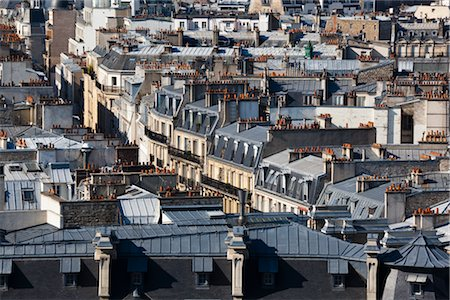 Overview of Buildings, Paris, France Stock Photo - Rights-Managed, Code: 700-03068330