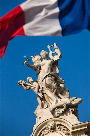 Statue on the Grand Palais, Paris, France Stock Photo - Rights-Managed, Code: 700-03068470