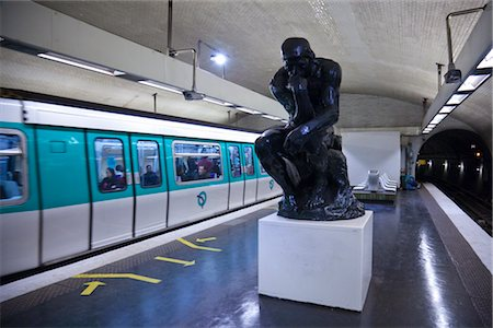 Rodin Sculpture in Varenne Metro Station, Paris, France Stock Photo - Rights-Managed, Code: 700-03068473