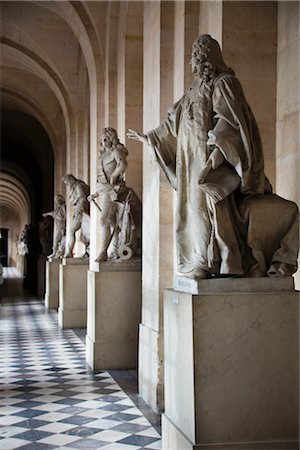 Statues, Colonnade, Palace of Versailles, Versailles, France Stock Photo - Rights-Managed, Code: 700-03068664