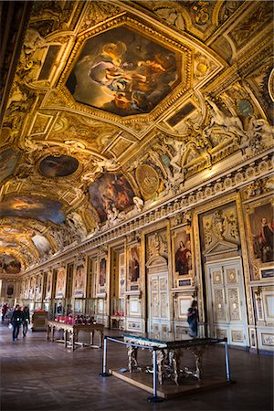 Apollo Gallery, The Louvre, Paris, Ile de France, France Stock Photo - Rights-Managed, Code: 700-03068857