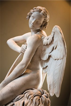 Angel, The Louvre, Paris, Ile de France, France Stock Photo - Rights-Managed, Code: 700-03068853