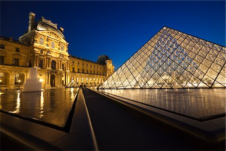 The Louvre, Paris, Ile de France, France Stock Photo - Rights-Managed, Code: 700-03068880