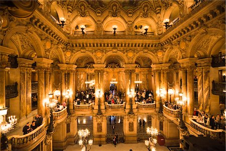 Garnier Opera, Paris, Ile de France, France Stock Photo - Rights-Managed, Code: 700-03068891
