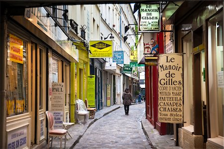 quaint - Passage du Chantier, Paris, Ile de France, France Stock Photo - Rights-Managed, Code: 700-03068927