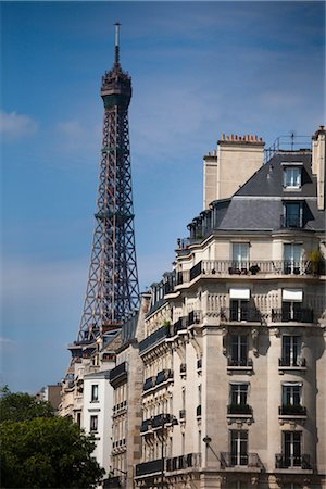 Eiffel Tower, Paris, Ile de France, France Stock Photo - Rights-Managed, Code: 700-03068953