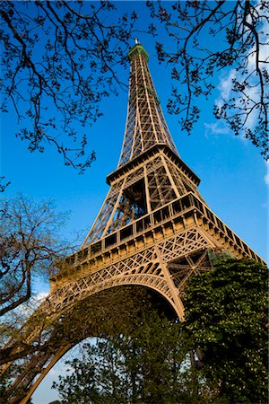 Eiffel Tower, Paris, Ile de France, France Stock Photo - Rights-Managed, Code: 700-03068968
