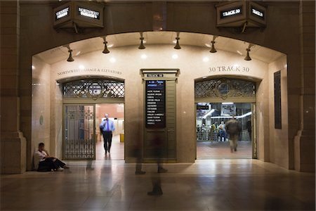 Entrance to Train Tracks, Grand Central Station, Manhattan, New York City, New York, USA Stock Photo - Rights-Managed, Code: 700-03069100