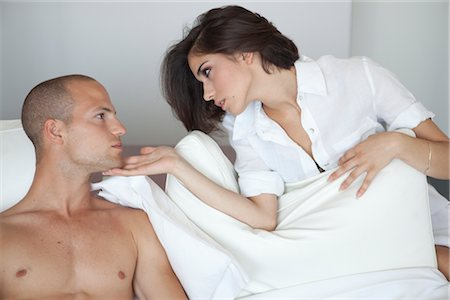 Couple in Bed Stock Photo - Rights-Managed, Code: 700-03075543
