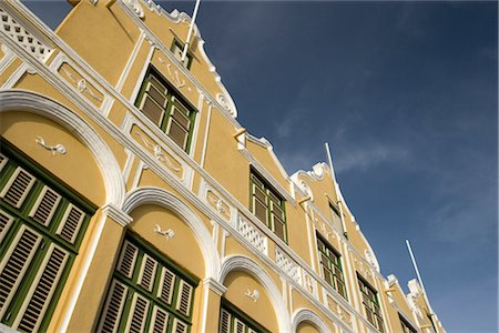 Exterior of Building in Willemstad, Curacao, Netherlands Antilles Stock Photo - Rights-Managed, Code: 700-03075696