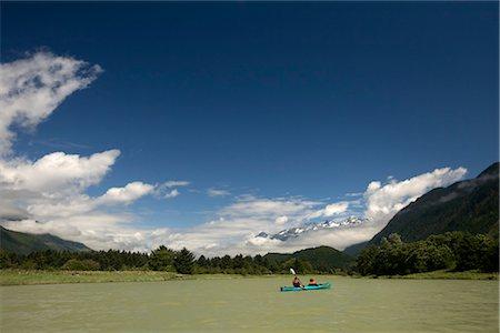 Kayakers on Klinaklini River, British Columbia, Canada Stock Photo - Rights-Managed, Code: 700-03083930