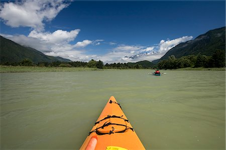 Kayakers on Klinaklini River, British Columbia, Canada Stock Photo - Rights-Managed, Code: 700-03083932