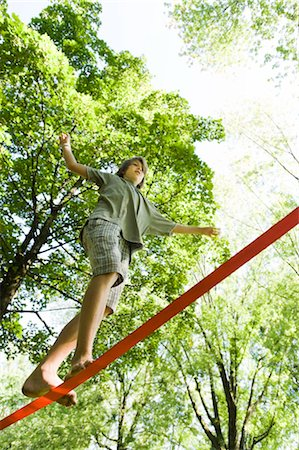 Boy Slacklining Stock Photo - Rights-Managed, Code: 700-03152348