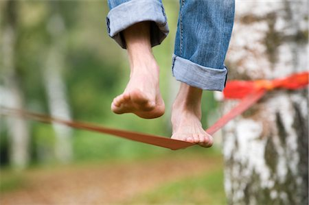 Man's Feet on Slackline Stock Photo - Rights-Managed, Code: 700-03161683