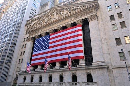 stock exchange building - New York Stock Exchange, Manhattan, New York, USA Stock Photo - Rights-Managed, Code: 700-03178554