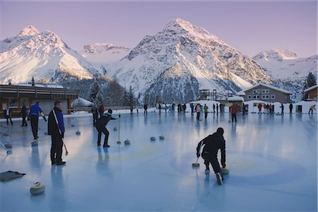 Curling in Arosa, Canton of Graubunden, Switzerland Stock Photo - Rights-Managed, Code: 700-03178606