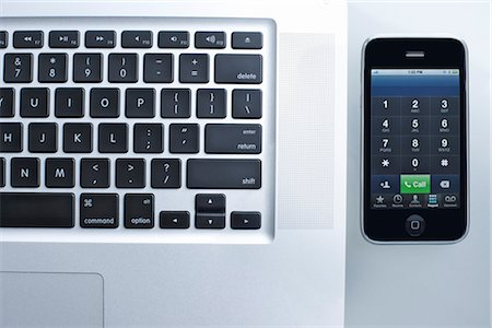 Still Life of iPhone and Laptop Computer Stock Photo - Rights-Managed, Code: 700-03179008