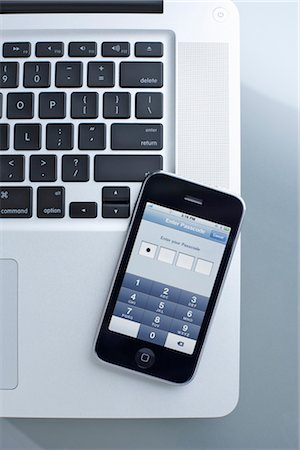 Still Life of iPhone and Laptop Computer Stock Photo - Rights-Managed, Code: 700-03179009