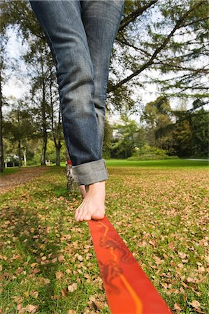 Woman on Slackline Stock Photo - Rights-Managed, Code: 700-03179149