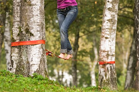Woman Slacklining Stock Photo - Rights-Managed, Code: 700-03179153