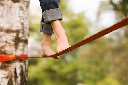 Woman on Slackline Stock Photo - Rights-Managed, Code: 700-03179164