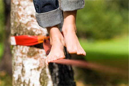 Woman on Slackline Stock Photo - Rights-Managed, Code: 700-03179179