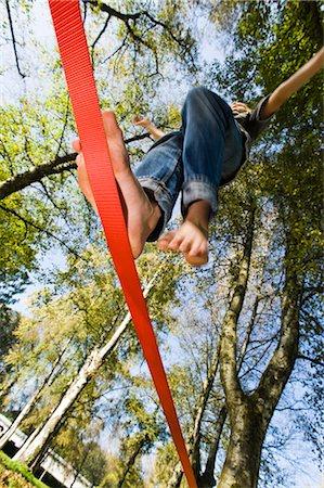 Boy Slacklining Stock Photo - Rights-Managed, Code: 700-03179171