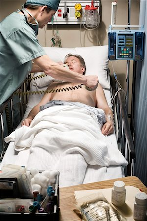 Emergency Room Doctor and Patient Stock Photo - Rights-Managed, Code: 700-03210515