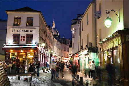 Montmartre, Paris, Ile de France, France Stock Photo - Rights-Managed, Code: 700-03210677