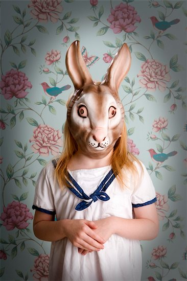 Little Girl Wearing a Bunny Mask Stock Photo - Premium Rights-Managed, Artist: Anita Clark, Image code: 700-03210683