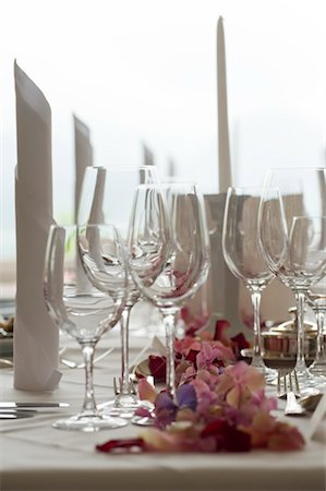 special event - Close-up of Wine Glasses on Table set for Wedding, Salzburg, Austria Stock Photo - Rights-Managed, Code: 700-03244006