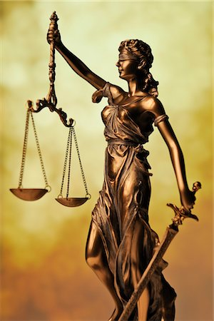 Statue of Lady Justice Holding Scales of Justice Stock Photo - Rights-Managed, Code: 700-03240508