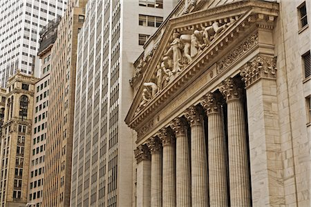stock exchange building - New York Stock Exchange, Manhattan, New York City, New York, USA Stock Photo - Rights-Managed, Code: 700-03240555