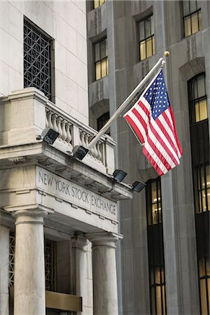 stock exchange building - New York Stock Exchange, Manhattan, New York City, New York, USA Stock Photo - Rights-Managed, Code: 700-03240550