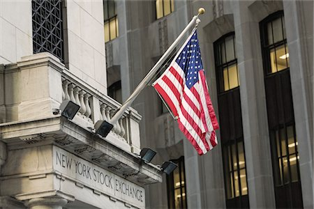 stock exchange building - New York Stock Exchange, Manhattan, New York City, New York, USA Stock Photo - Rights-Managed, Code: 700-03240551