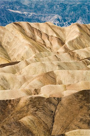 Zabriskie Point, Badlands, Death Valley National Park, California, USA Stock Photo - Rights-Managed, Code: 700-03240561