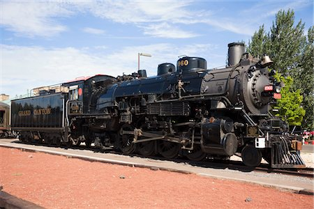Historic Stean Engine Passenger Train, Grand Canyon Railroad, Arizona, USA Stock Photo - Rights-Managed, Code: 700-03240787