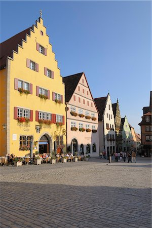 street cafe day - Historic Center, Market Square, Rothenburg ob der Tauber, Ansbach District, Bavaria, Germany Stock Photo - Rights-Managed, Code: 700-03243935