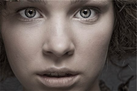Close Up of Teenage Girl's Face Stock Photo - Rights-Managed, Code: 700-03294849