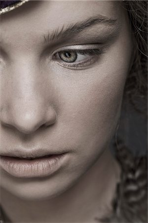 Close Up of Teenage Girl's Face Stock Photo - Rights-Managed, Code: 700-03294850