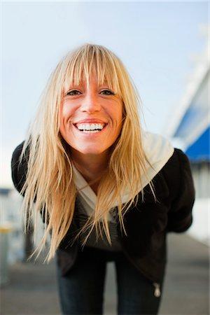 Portrait of Woman on Pier in Santa Cruz, California, USA Stock Photo - Rights-Managed, Code: 700-03295027