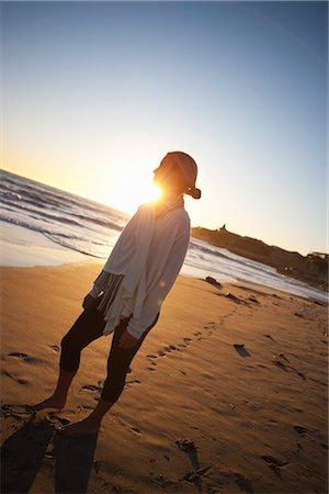 sandi model - Woman on the Beach, Santa Cruz, California, USA Stock Photo - Rights-Managed, Code: 700-03295073