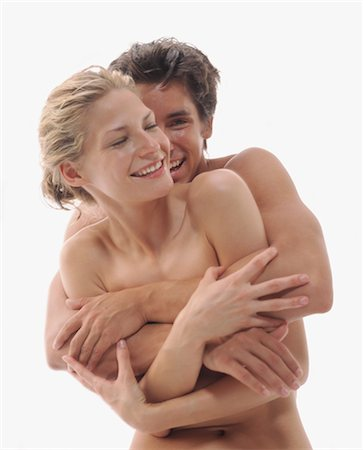 Nude Couple Embracing Stock Photo - Rights-Managed, Code: 700-03298815