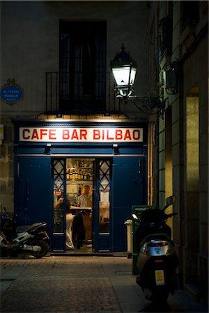 european cafe bar - Bar at Night, Bilbao, Spain Stock Photo - Rights-Managed, Code: 700-03290024