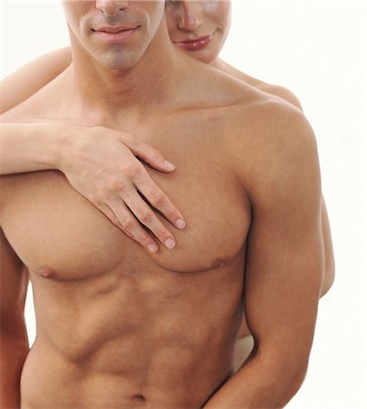 Close-up of Nude Couple, Man's Torso Stock Photo - Rights-Managed, Code: 700-03290115