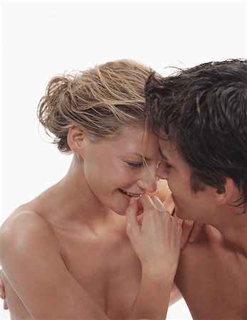 Close-up of Nude Couple Embracing Stock Photo - Rights-Managed, Code: 700-03290117