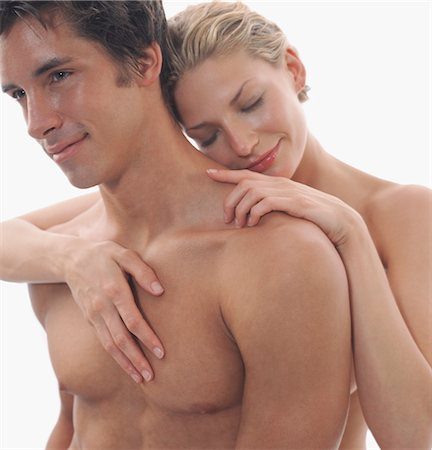 Close-up of Nude Couple Embracing Stock Photo - Rights-Managed, Code: 700-03290118