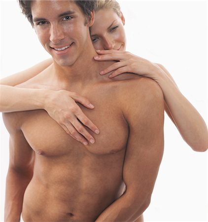 Close-up of Nude Couple, Man's Torso Stock Photo - Rights-Managed, Code: 700-03290119