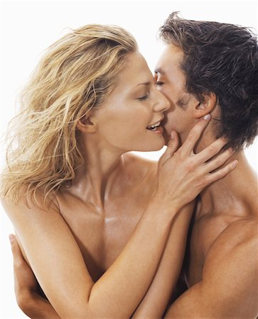 Close-up of Nude Couple Embracing Stock Photo - Rights-Managed, Code: 700-03290111